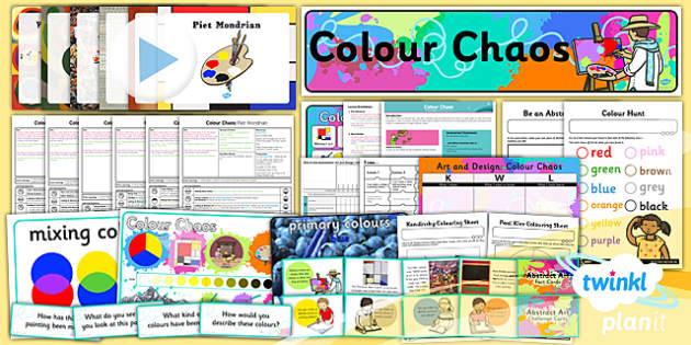 PlanIt - Art KS1 - Colour Chaos Unit Pack