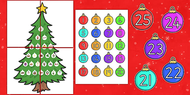 Large Christmas Tree Advent Calendar - australia, christmas, tree