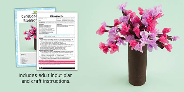 Cardboard Tube Blossom Tree Craft EYFS Adult Input Plan and Resource Pack - adult