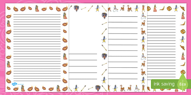 The Story of Rama and Sita Page Borders - diwali, hinduism, RE