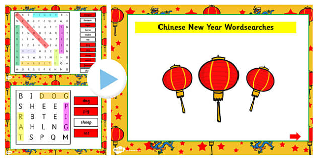 Chinese New Year Story Interactive Wordsearch - wordsearch, story
