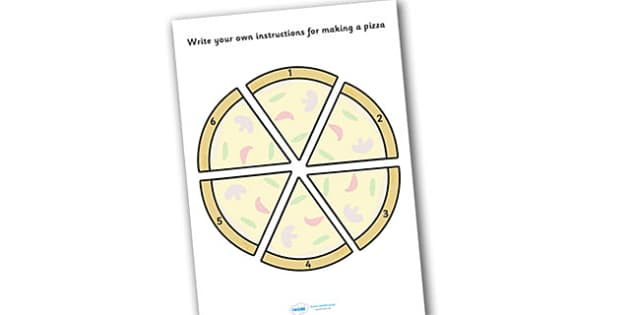 Make Your Own Pizza Instructions Sheet - make your own pizza, instruction sheets, sheet, pizza instructions, own, instruction, making a pizza, how to make, a pizza, pizzas, sheets, worksheet, writing template, template, templates, independent, creati