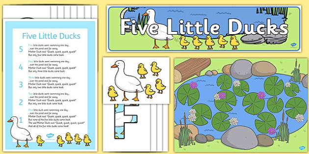 Five Little Ducks Ready Made Display Pack - five, little, ducks, ready made, display pack