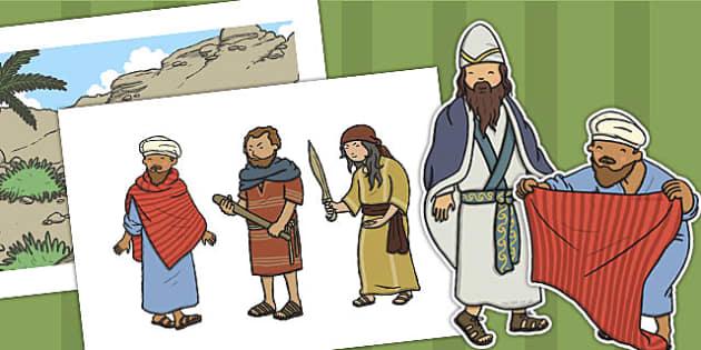 The Good Samaritan Story Cut Outs - the good samaritan, samaritan, help, helping, cut outs, cutting, cut, jewish, thieves, bible story, Jesus, priest, Levite, kind, good samartian