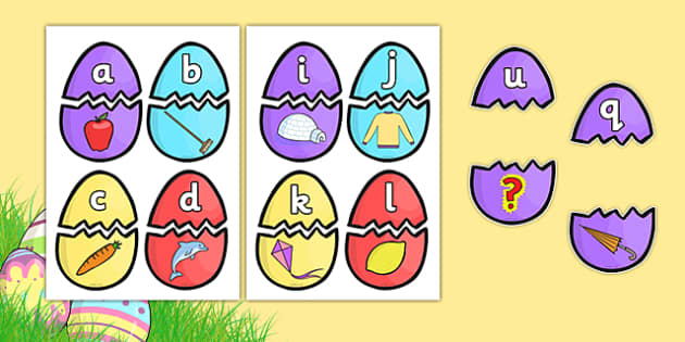 Easter Egg Alphabet Matching Activity - matching activity, matching, easter eggs, alpahbet matching, alphabet, pattern matching, colour matching, match the eggs, easter matching activity, easter activity, activity, snap
