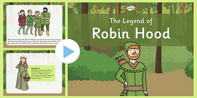 The Legend of Robin Hood PowerPoint - legend, robin hood, powerpoint