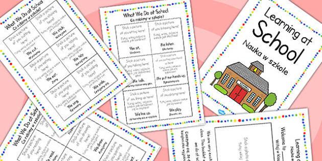Polish Translation Starter Learning at School Booklet - polish