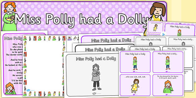 Miss Polly Had a Dolly Resource Pack - miss polly had a dolly, resource pack, resource, pack of resource, themed resource pack, miss polly had a dolly pack