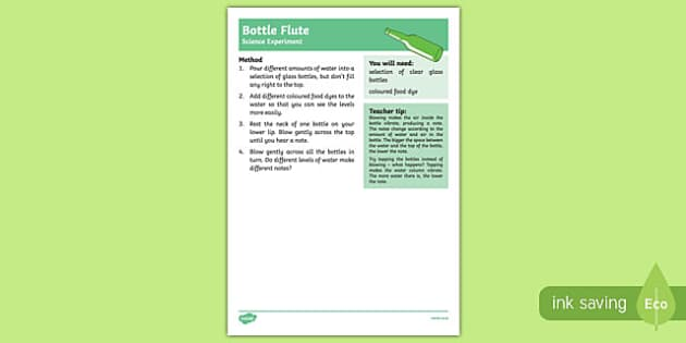 Bottle Flute Science Experiment-Australia