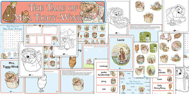 The Tale of Mrs Tiggy Winkle Resource Pack - mrs tiggy winkle, resource pack