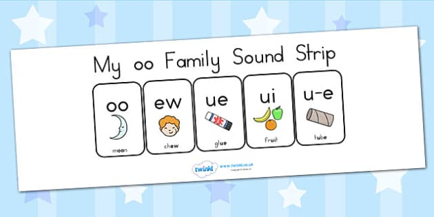 My Oo Family Sound Strip - sound family, visual aid, literacy