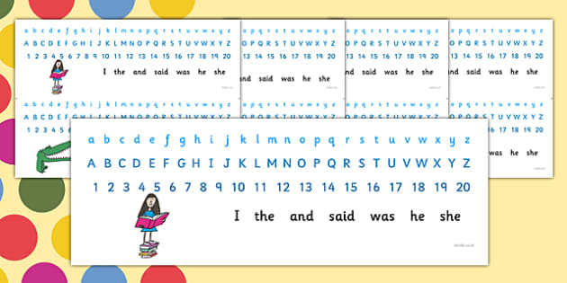 Roald Dahl Combined Number Alphabet Strips - number strip, alphabet strip, roald dahl, combined number alphabet strips, roald dahl themed