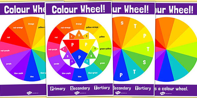 Colour Wheel Poster Pack - Tertiary, Colour, Wheel, Poster, Pack