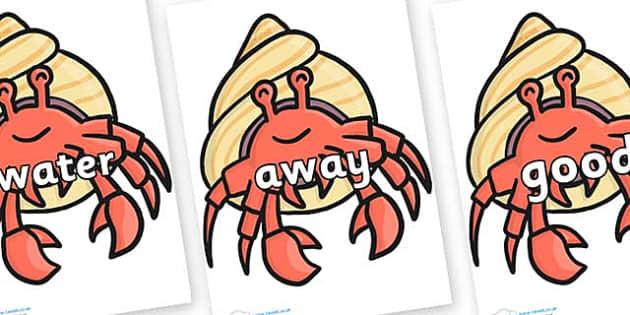 Next 200 Common Words on Hermit Crabs - Next 200 Common Words on  - DfES Letters and Sounds, Letters and Sounds, Letters and sounds words, Common words, 200 common words