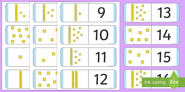 Numbers 1-30 Loop Cards with Dienes - numbers, 1-30, loop cards, dienes, activity, game