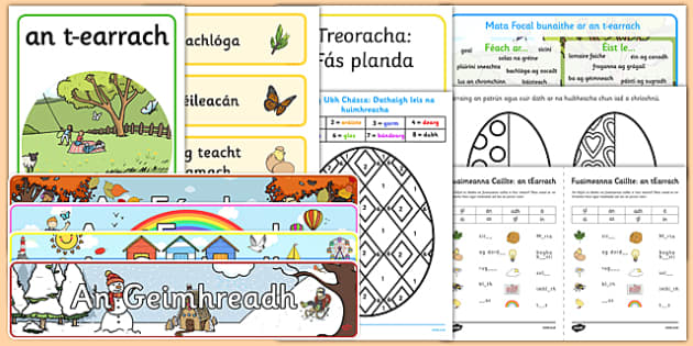 Irish Gaeilge Spring An tEarrach Resource Pack-Irish