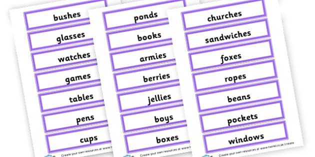 Plural Nouns - KS2 Nouns, Words and Vocabulary, Literacy, KS2 English