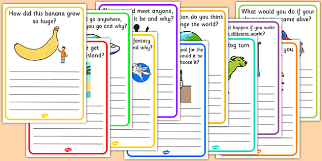 Creative Writing Prompt Question Writing Frames - writing aid