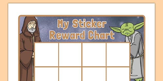 Space Wars Themed Sticker Reward Chart - space wars, star wars, sticker, reward, chart