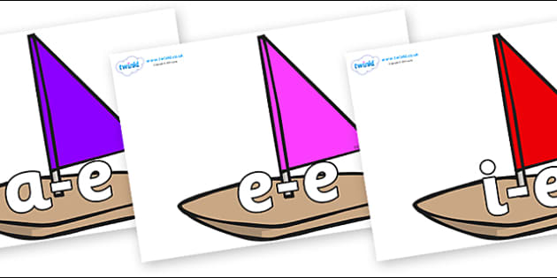 Modifying E Letters on Toy Boats - Modifying E, letters, modify, Phase 5, Phase five, alternative spellings for phonemes, DfES letters and Sounds