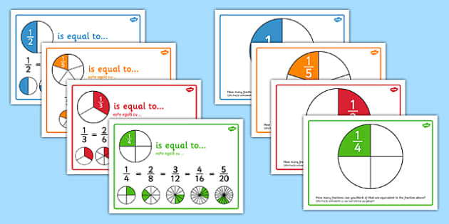 Equivalent Fractions Posters Romanian Translation - romanian, fractions, posters, displays
