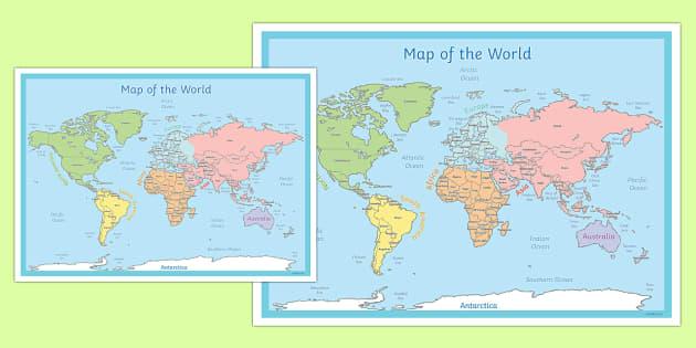 Map Poster world map poster display world map land – Map World Ks1