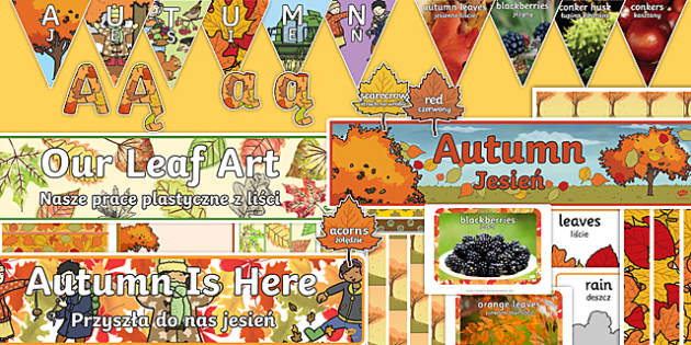Autumn Topic Display Pack Polish Translation-Polish-translation