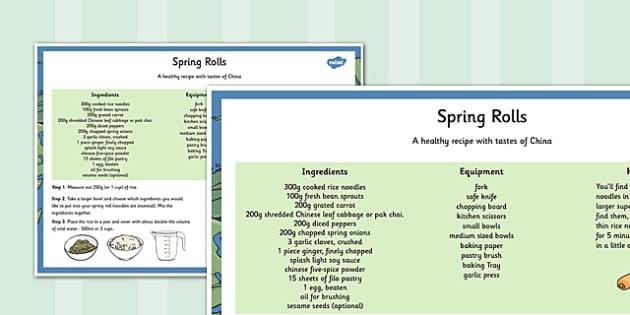 Global Food Spring Rolls Recipe - global food, recipe, global, food, spring rolls