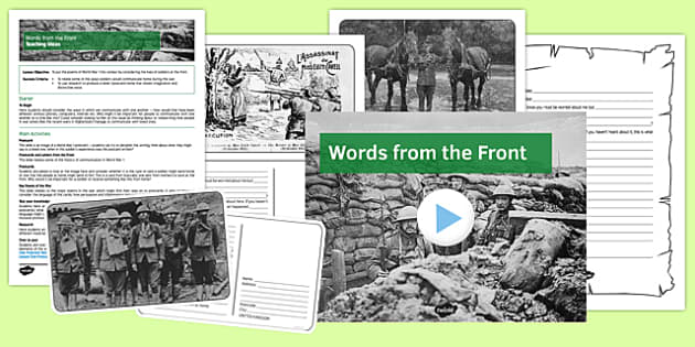 Words from the Front Lesson Pack One - words, front, lesson pack, one, lesson, pack