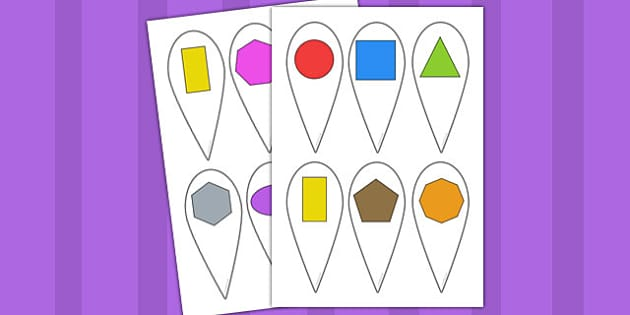 2D Shape Fans - Shape fans, 2D Shape names, Shape Flashcards, Shape Pictures, Shape Words, 2D flashcards