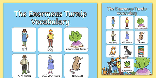 The Enormous Turnip Vocabulary Poster - vocabulary, poster