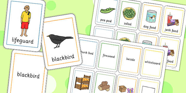 Two Syllable Final 'D' Sound Playing Cards - sounds, words, visual