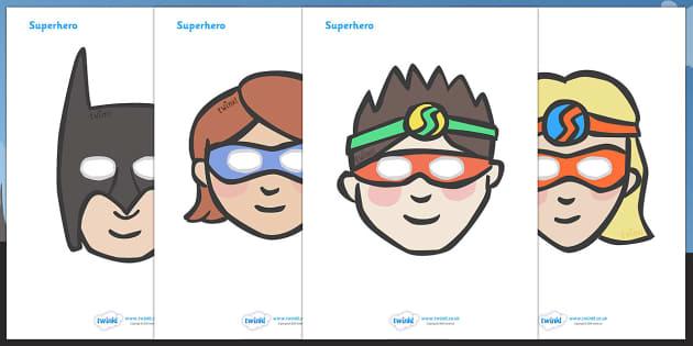 Superhero Role Play Masks - role play mask, role play, superhero, hero, batman, superman, spiderman