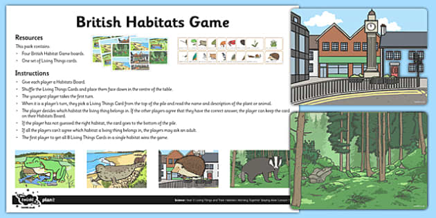British Habitats Game - british, habitats, game, activity, british habitat