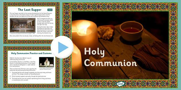 Holy Communion PowerPoint - holy communion, powerpoint, religion