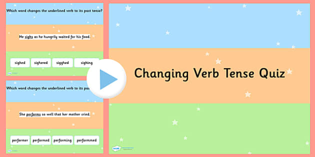 Changing Verb Tense by Adding  ed SPaG PowerPoint Quiz - SPaG