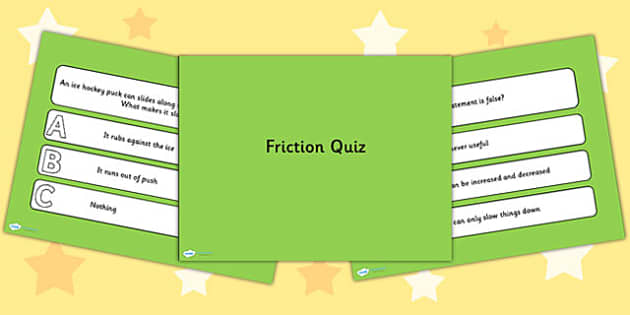Friction PowerPoint Quiz - friciton, science, powerpoint, quiz