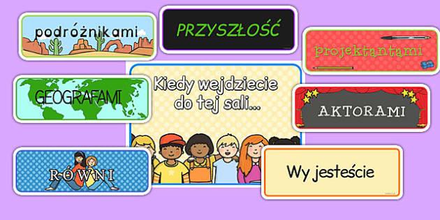 Materiały na gazetkę Kiedy wejdziecie do tej sali… po polsku