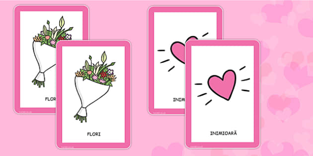 Ziua indragostitilor, Joc de memorie cu cartonase - sf valentin