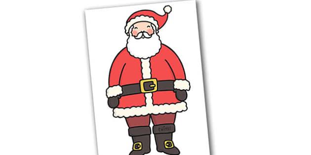 A4 Father Christmas Editable  - christmas, santa, editable, xmas