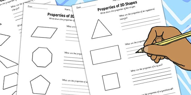 Year 4 Properties of 2D Shapes Activity Sheet Pack - activity, sheets, worksheet
