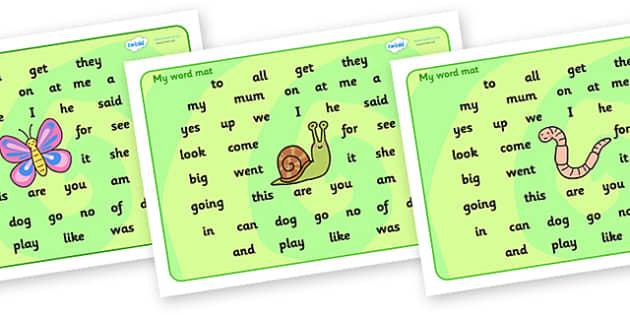Minibeasts Theme Word Mat KS2 - word mat, writing aid, mat, minibeasts, insects, minibeast word mat, minibeast KS2 word mat, bugs word mat, words on a mat, key words, literacy, learning aid
