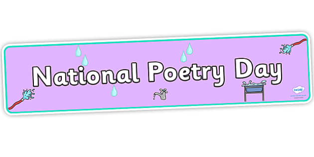 National Poetry Day Water Themed Display Banner - National Poetry Day, national poetry day 2013, national poetry day display banner, display