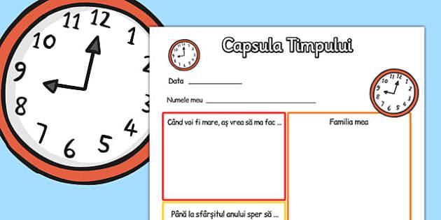 Capsula Timpului - scriere, a III, doresc, nou an scolar, viitor, Romanian