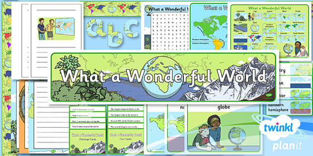PlanIt - Geography KS1 - What a Wonderful World Unit Additional Resources