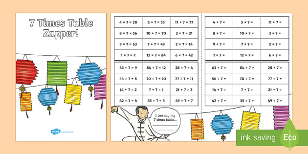 7 Times Table with Division Zapper