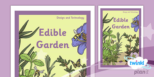 PlanIt - DT LKS2 - Edible Garden Unit Book Cover - planit, lks2, book cover, design and technology, dt, edible garden
