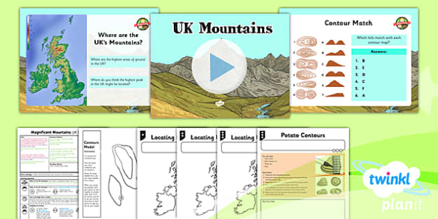 PlanIt - Geography Year 5 - Magnificent Mountains Lesson 2: UK Mountains Lesson Pack