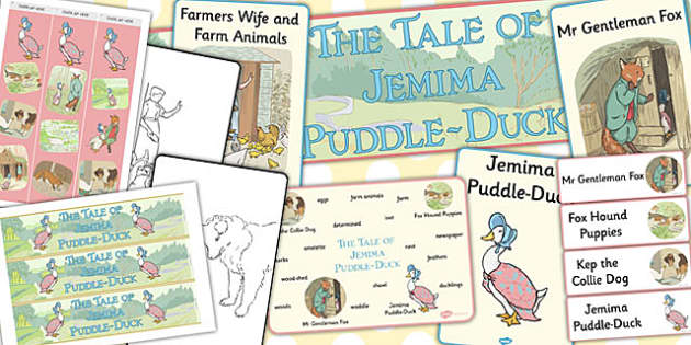 The Tale of Jemima Puddle-Duck Story Sack - jemima puddle-duck