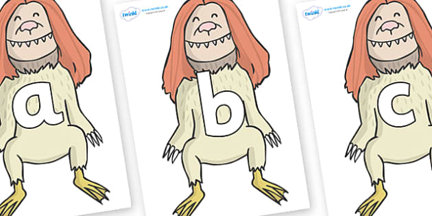 Phoneme Set on Wild Thing (2) to Support Teaching on Where the Wild Things Are - Phoneme set, phonemes, phoneme, Letters and Sounds, DfES, display, Phase 1, Phase 2, Phase 3, Phase 5, Foundation, Literacy